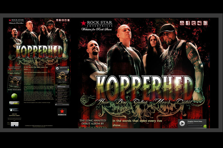 Creating band artwork for Kopperhed